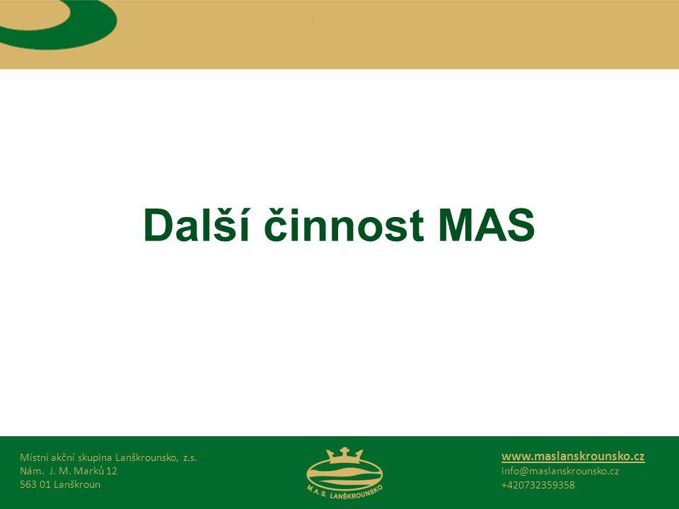 Další činnost MAS Místní akční skupina Lanškrounsko, z.s.