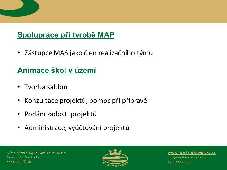 Spolupráce při tvrobě MAP Místní akční skupina Lanškrounsko, z.s.