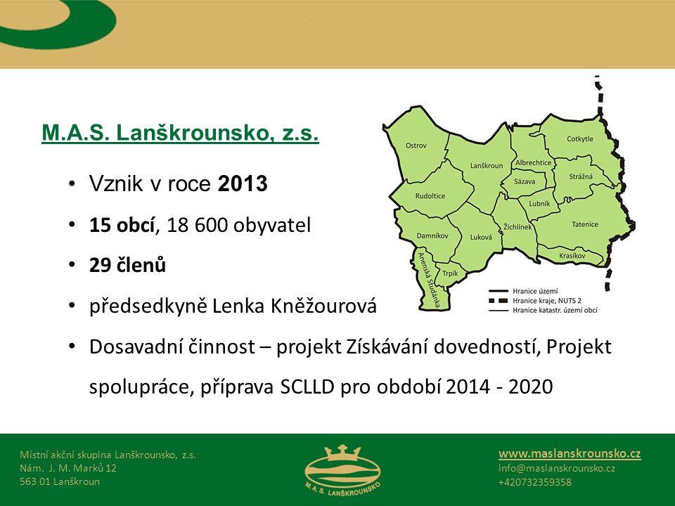 M.A.S.Lanškrounsko, z.s. Místní akční skupina Lanškrounsko, z.s.