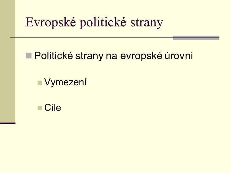 Evropské politické strany - historie 1.