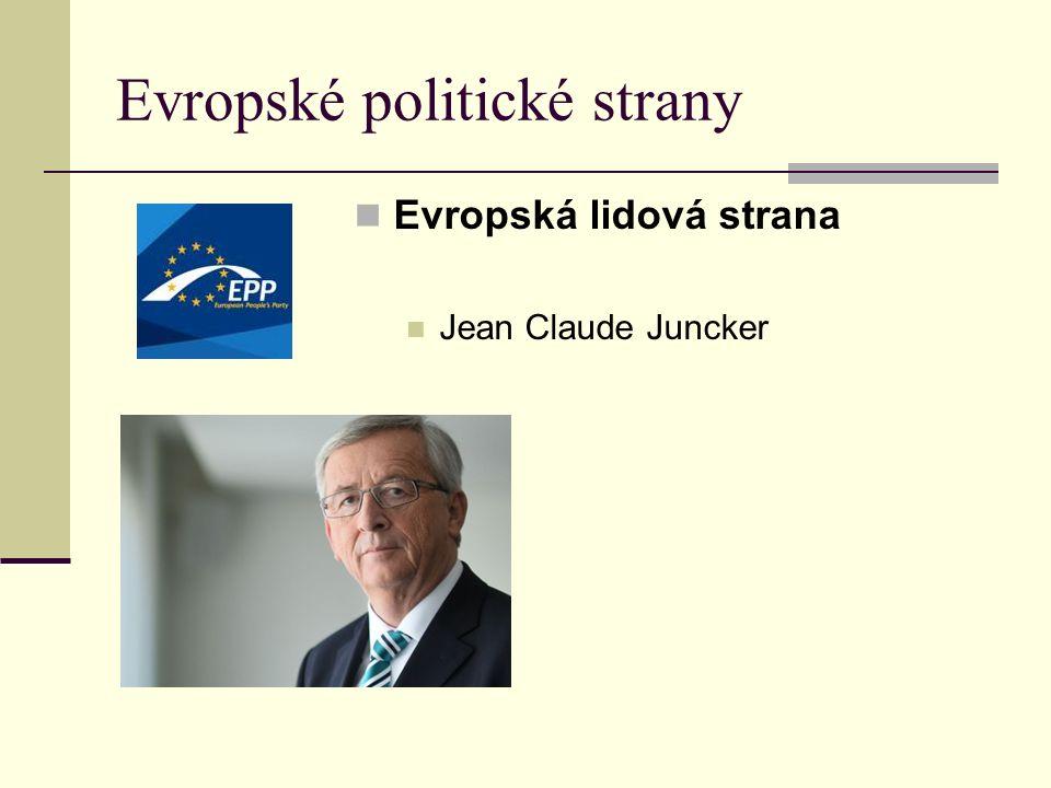 Evropská lidová strana Jean Claude Juncker Evropské politické strany