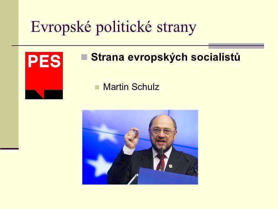 Strana evropských socialistů Martin Schulz