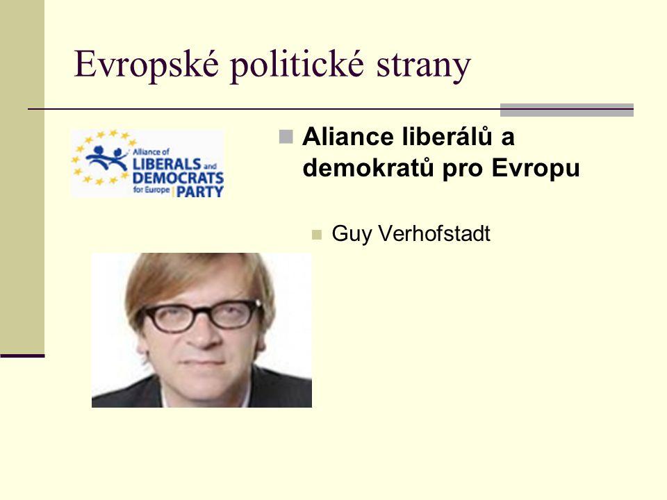 Evropské politické strany Aliance liberálů a demokratů pro Evropu Guy Verhofstadt