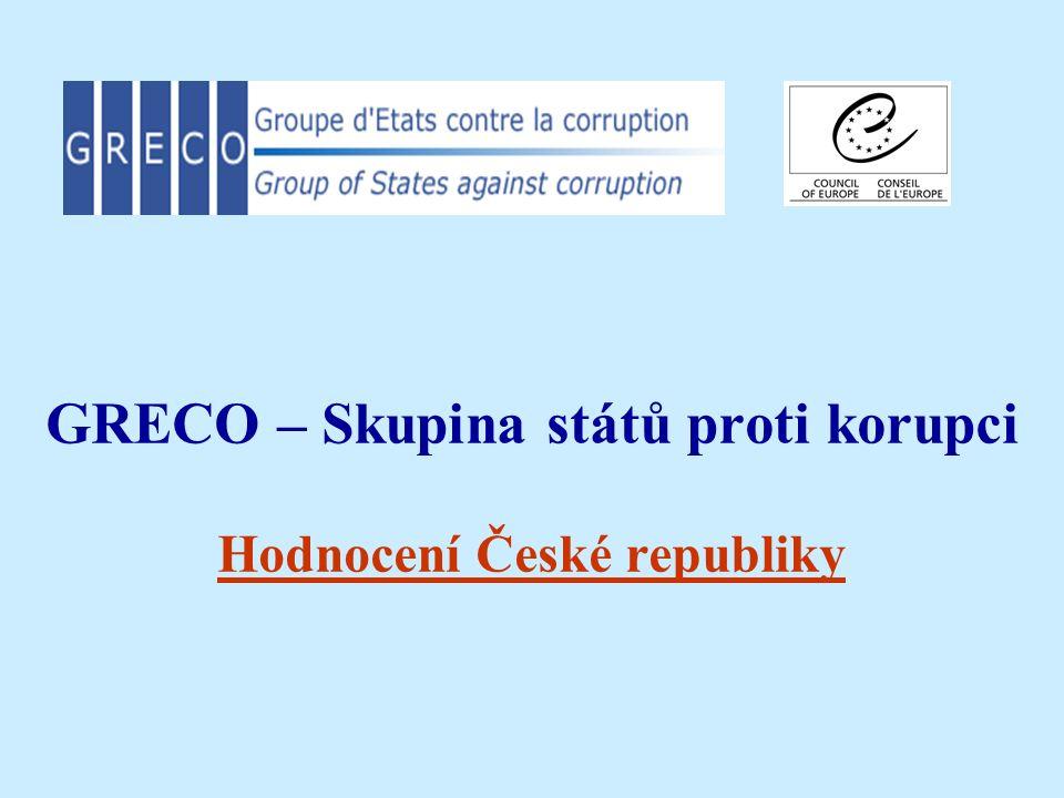 GRECO – Skupina států proti korupci Hodnocení České republiky