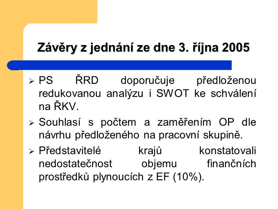 Závěry z jednání ze dne 3.