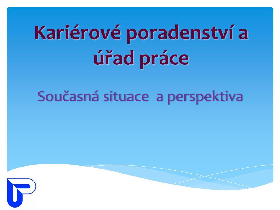 Kariérové poradenství a úřad práce Současná situace a perspektivaSoučasná situace a perspektiva