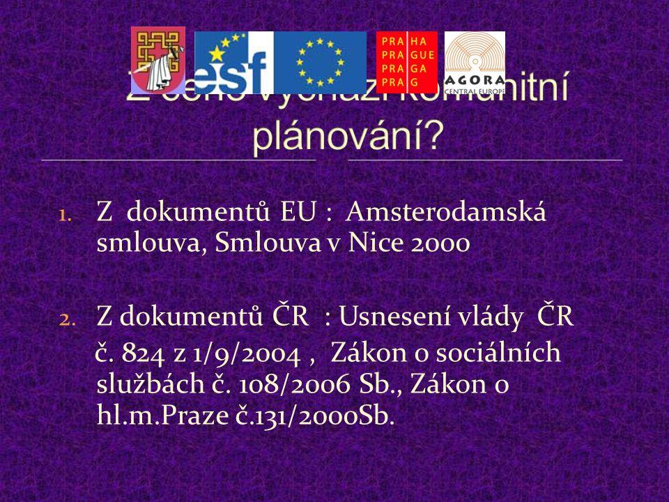 1. Z dokumentů EU : Amsterodamská smlouva, Smlouva v Nice 2000 2.