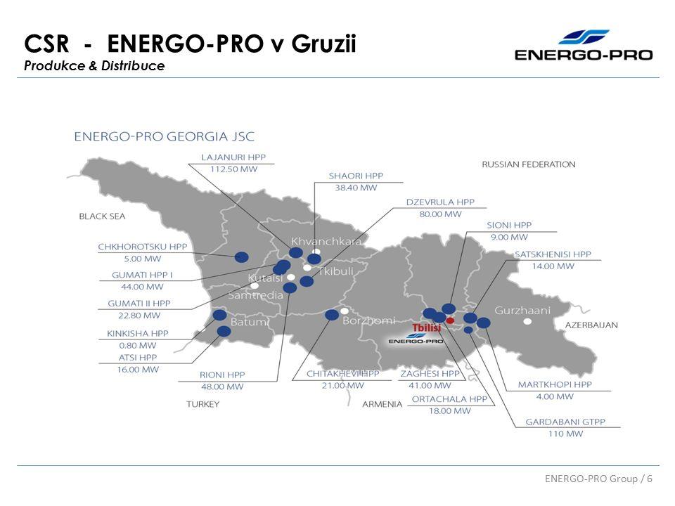 CSR - ENERGO-PRO v Gruzii Produkce & Distribuce ENERGO-PRO Group / 6