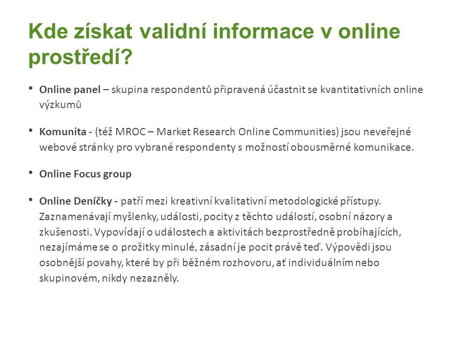 Kde získat validní informace v online prostředí.