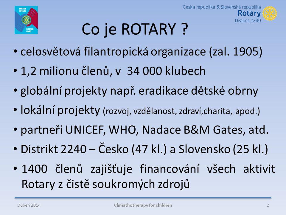 Co je ROTARY . celosvětová filantropická organizace (zal.