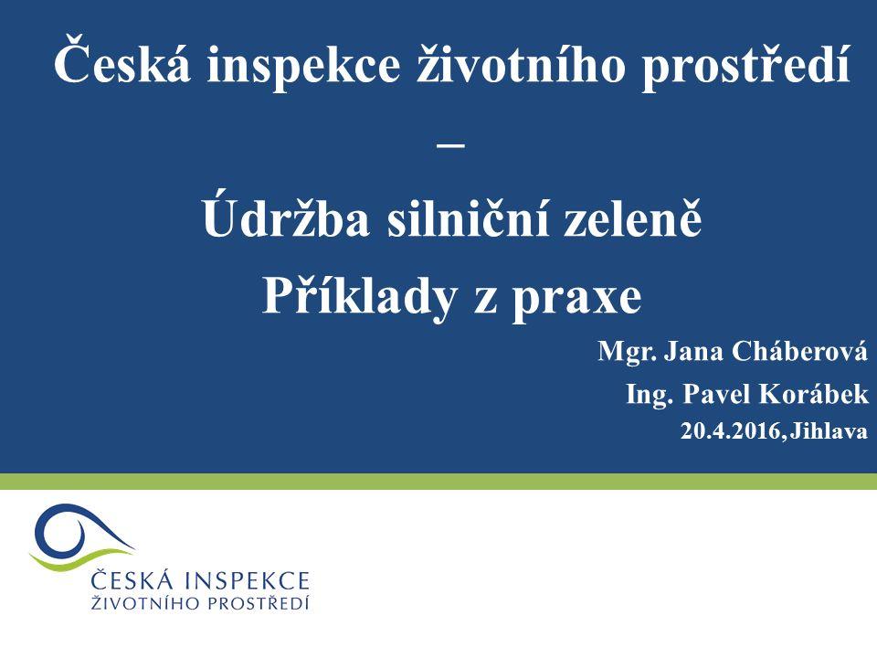 Česká inspekce životního prostředí – Údržba silniční zeleně Příklady z praxe Mgr.