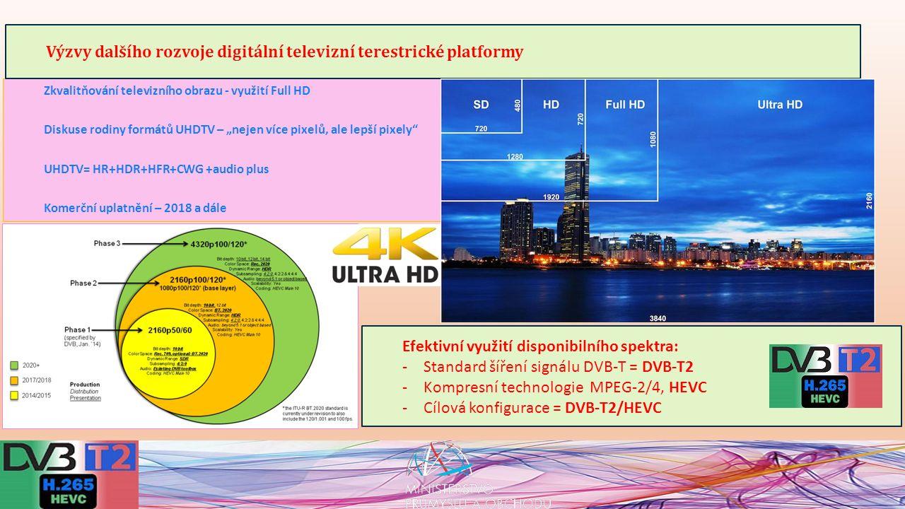 Z hlediska veřejného zájmu je základním dlouhodobým cílem procesu rozvoje digitální televizní terestrické platformy (DTT) zajištění udržitelného rozvoje zemského televizního vysílání jako klíčové neplacené televizní platformy v perspektivě nejbližších 15 let nejméně ve stejném rozsahu jako v současné době, ovšem ve vyšší kvalitě, odpovídající inovacím v televizních technologiích a obsahovém rozvoji televizního vysílání.