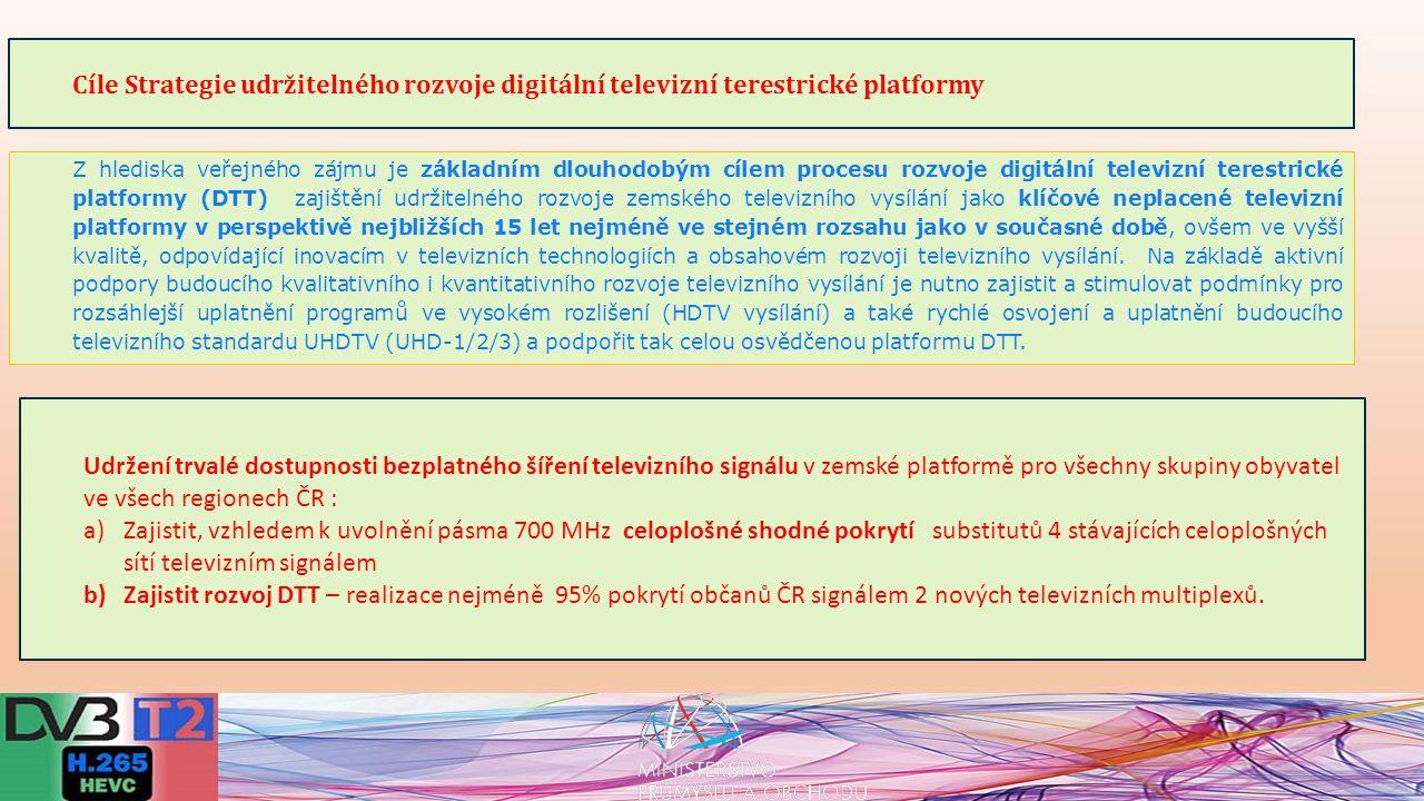 Rozvoj mobilního broadbandu na základě nuceného snížení bezplatné dostupnosti televizního vysílání na platformě DTT je ale nepřijatelný.