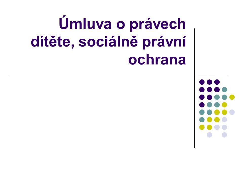Úmluva o právech dítěte, sociálně právní ochrana