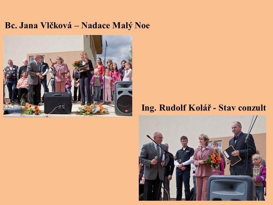 Bc. Jana Vlčková – Nadace Malý Noe Ing. Rudolf Kolář - Stav conzult