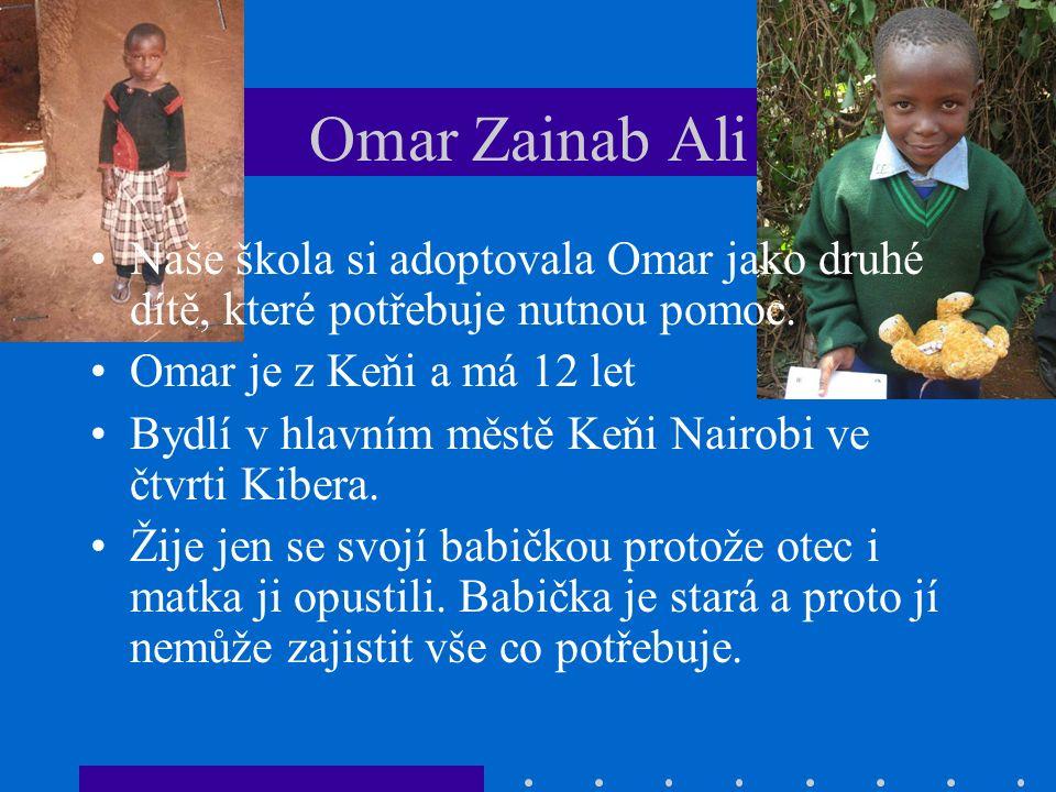 Omar Zainab Ali Naše škola si adoptovala Omar jako druhé dítě, které potřebuje nutnou pomoc.