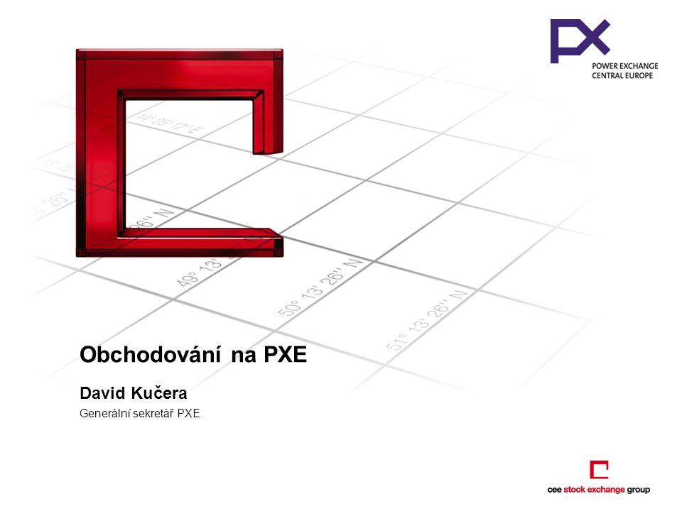 Obchodování na PXE David Kučera Generální sekretář PXE
