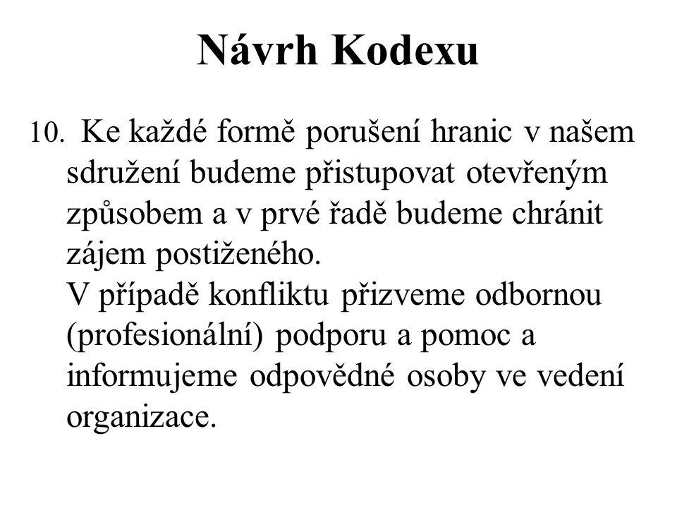Návrh Kodexu 10.