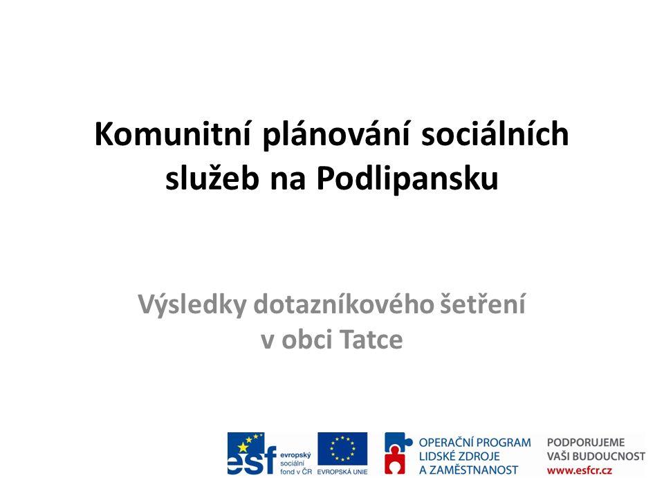 Komunitní plánování sociálních služeb na Podlipansku Výsledky dotazníkového šetření v obci Tatce