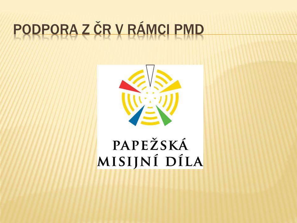 PAPEŽSKÉ MISIJNÍ DÍLO ŠÍŘENÍ VÍRY  Podpora projektů od roku: 2009  Počet podporovaných diecézí: 4  Celková finanční pomoc: 33 885 443 Kč