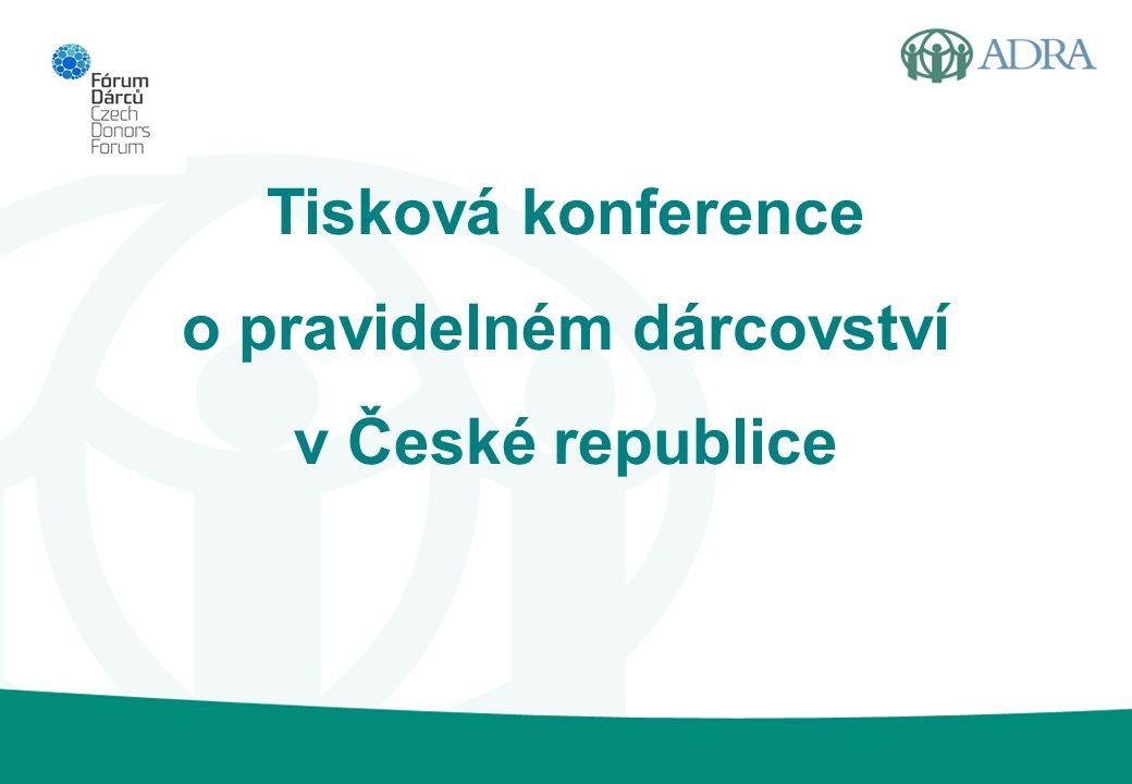 Tisková konference o pravidelném dárcovství v České republice
