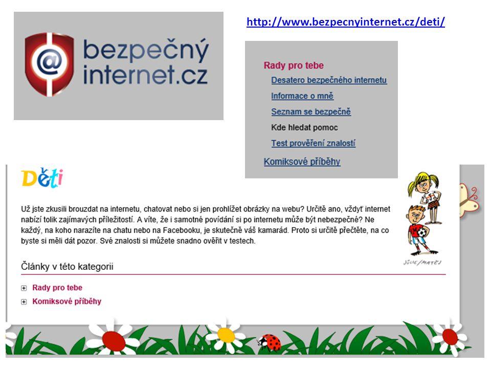 http://www.bezpecnyinternet.cz/deti/