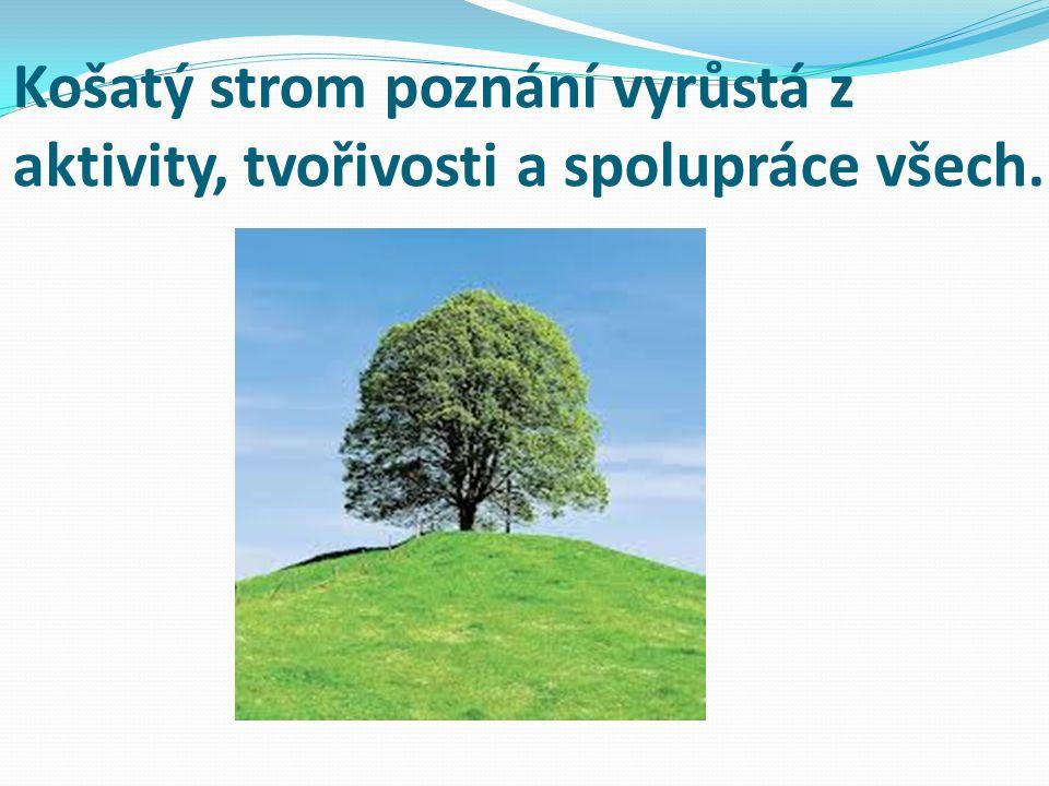 Košatý strom poznání vyrůstá z aktivity, tvořivosti a spolupráce všech.