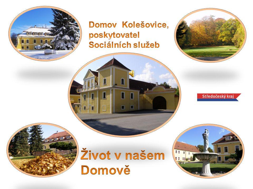 Domov Kolešovice je umístěn ve středu obce v zámeckém objektu.