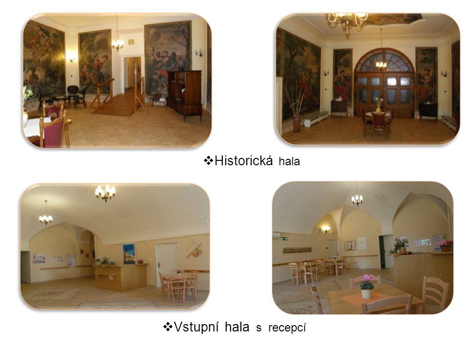  Historická hala  Vstupní hala s recepcí