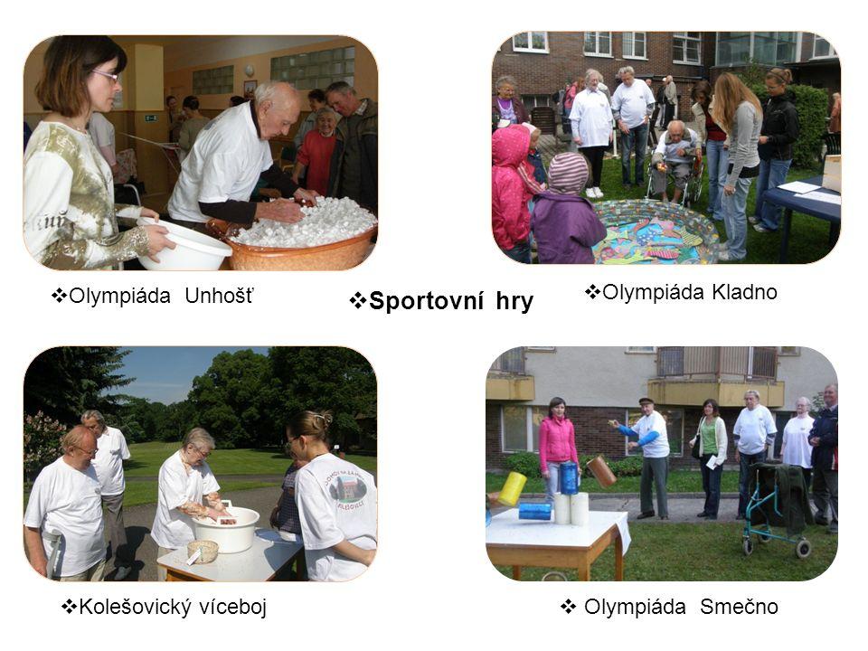 Olympiáda Unhošť  Olympiáda Kladno  Kolešovický víceboj  Olympiáda Smečno  Sportovní hry
