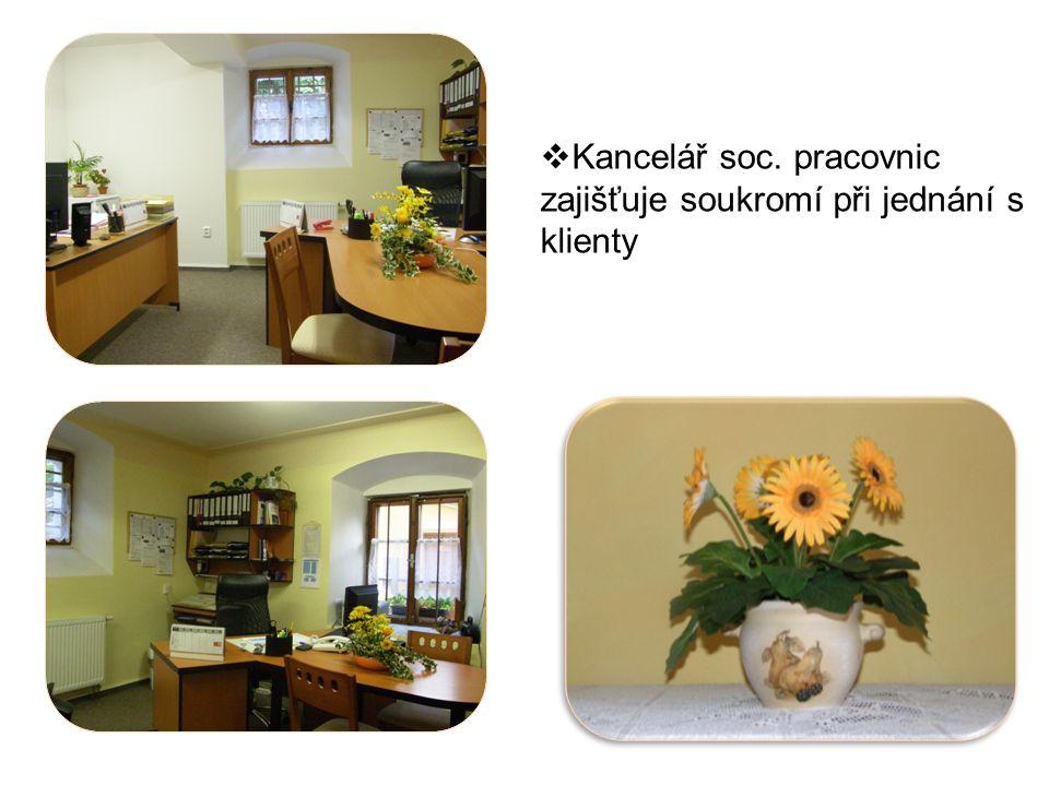  Kancelář soc. pracovnic zajišťuje soukromí při jednání s klienty
