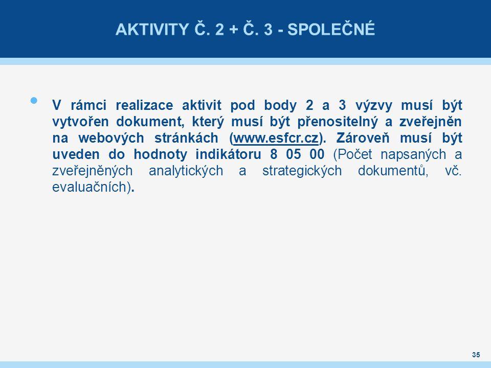 AKTIVITY Č.2 + Č.