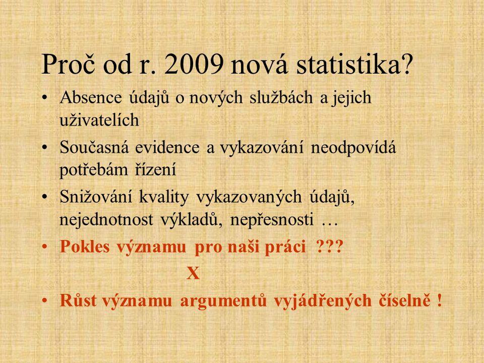 Proč od r. 2009 nová statistika.