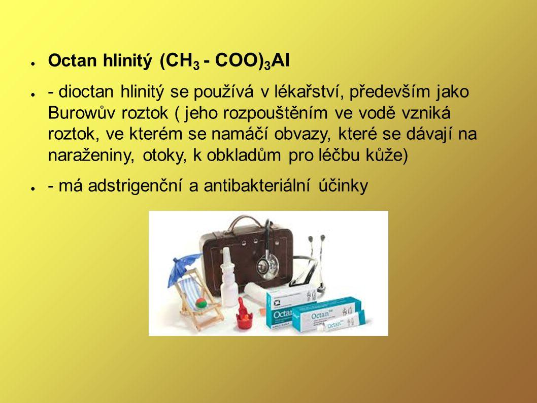 ● Glutaman (glutamát) sodný ● - používá se jako zvýrazňovač chuti v potravinářském průmyslu - má označení E-621; obsahují ho např.