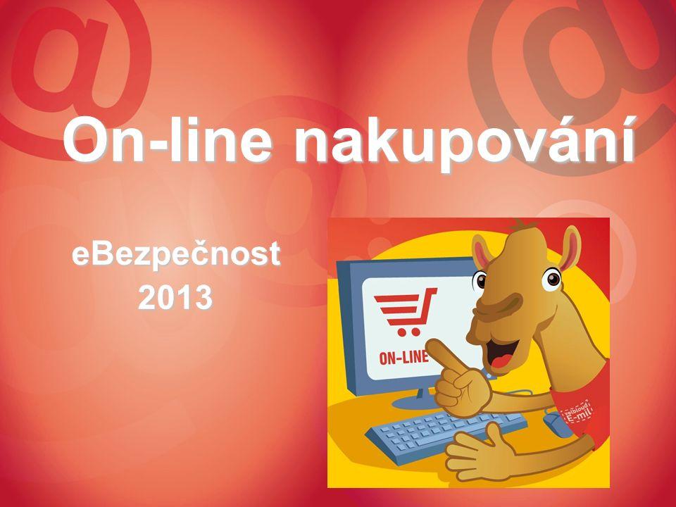 On-line nakupování eBezpečnost2013