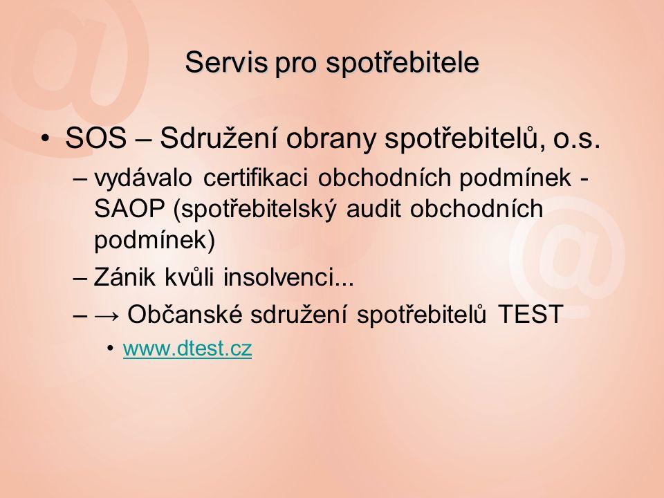 Servis pro spotřebitele SOS – Sdružení obrany spotřebitelů, o.s.