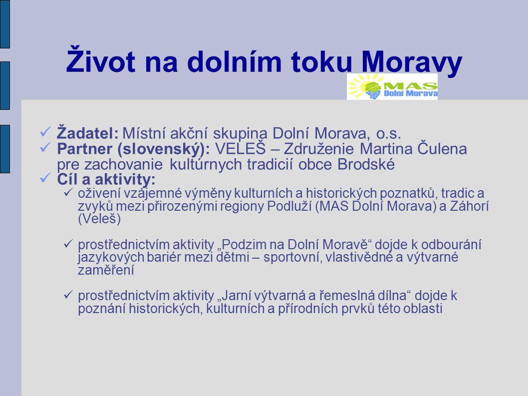 Život na dolním toku Moravy Žadatel: Místní akční skupina Dolní Morava, o.s.
