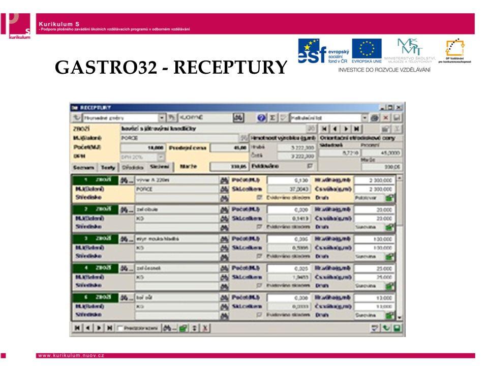 GASTRO32 - RECEPTURY