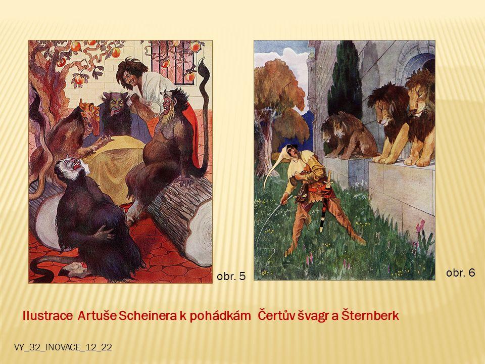 Ilustrace Artuše Scheinera k pohádkám Čertův švagr a Šternberk obr. 5 obr. 6