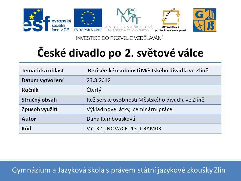 České divadlo po 2.