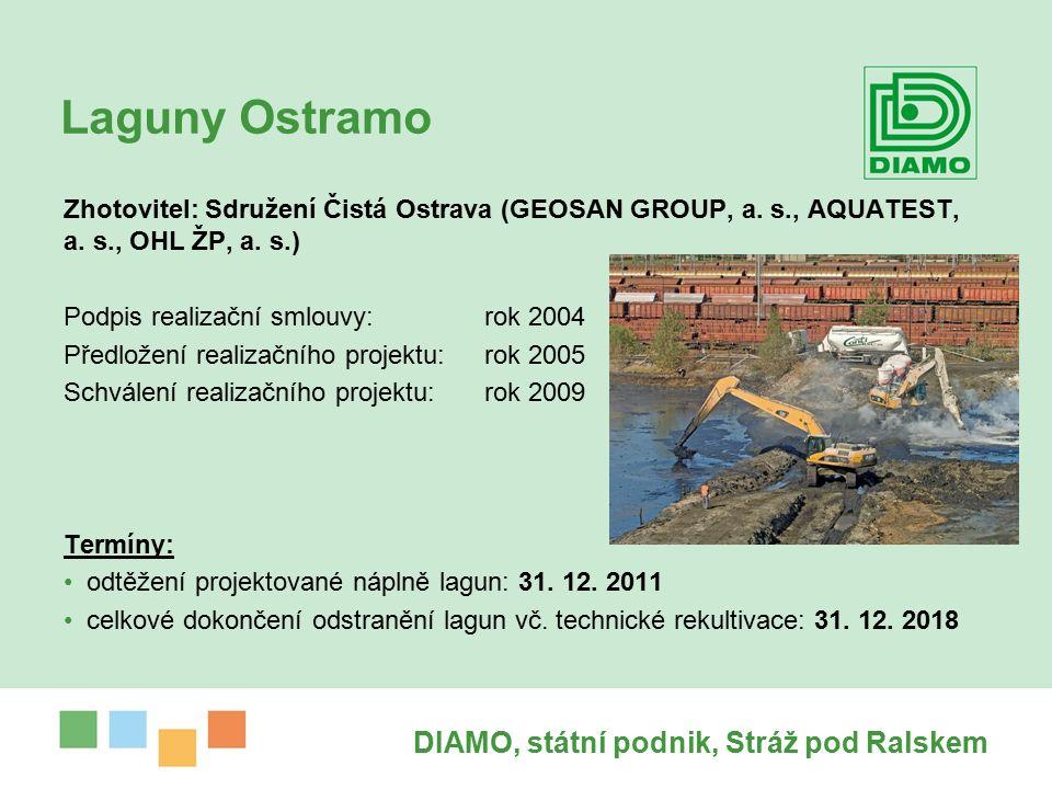 Laguny Ostramo DIAMO, státní podnik, Stráž pod Ralskem Zhotovitel: Sdružení Čistá Ostrava (GEOSAN GROUP, a.