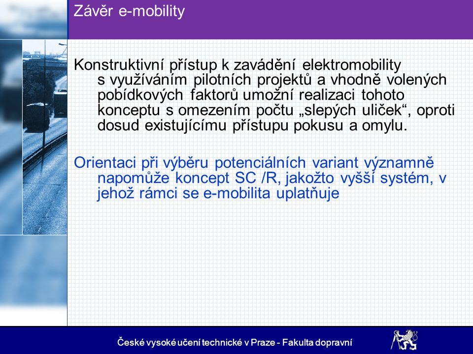 Slabiny e-mobility (2014) - zůstává v podstatě v platnosti 1.