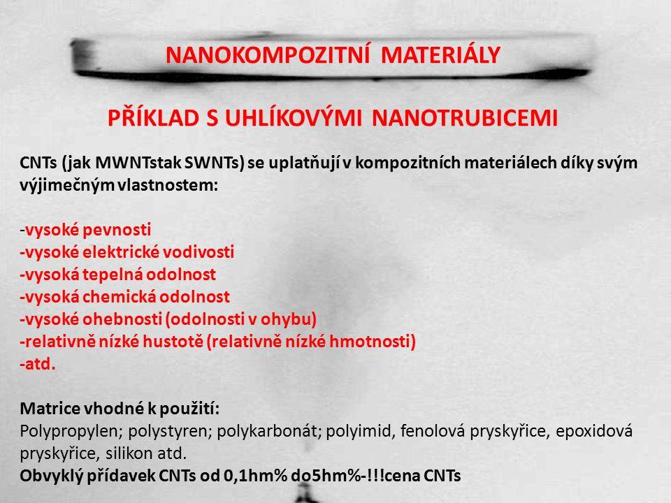 NANOKOMPOZITNÍ MATERIÁLY Zásady pro přípravu a výrobu nanokompozitních materiálů 1.Nanomateriál je nutné dokonale a BEZPEČNĚ (škodlivost nanomateriálů) dispergovat v polymerní matrici nebo v prostředí zařízení.