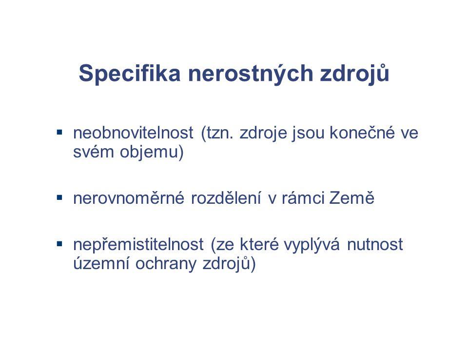 Specifika nerostných zdrojů  neobnovitelnost (tzn.