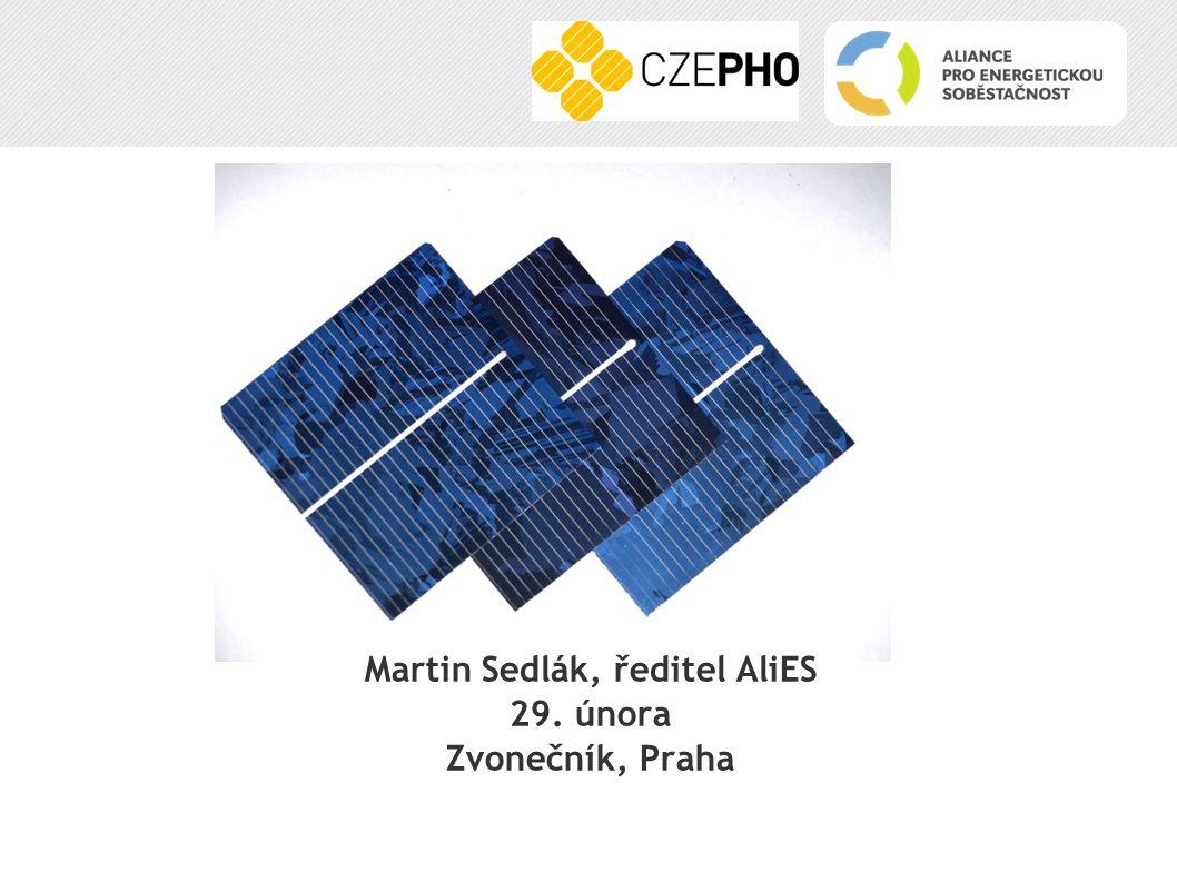 Martin Sedlák, ředitel AliES 29. února Zvonečník, Praha