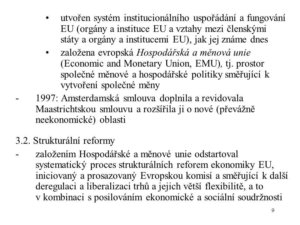 9 utvořen systém institucionálního uspořádání a fungování EU (orgány a instituce EU a vztahy mezi členskými státy a orgány a institucemi EU), jak jej