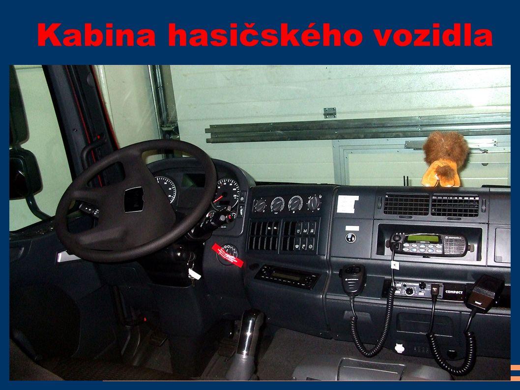 Kabina hasičského vozidla