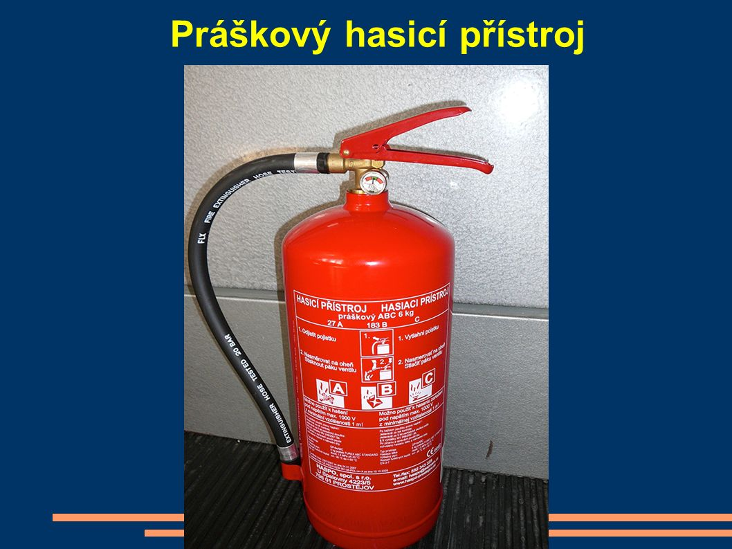 Práškový hasicí přístroj