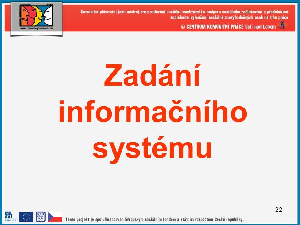 22 Zadání informačního systému
