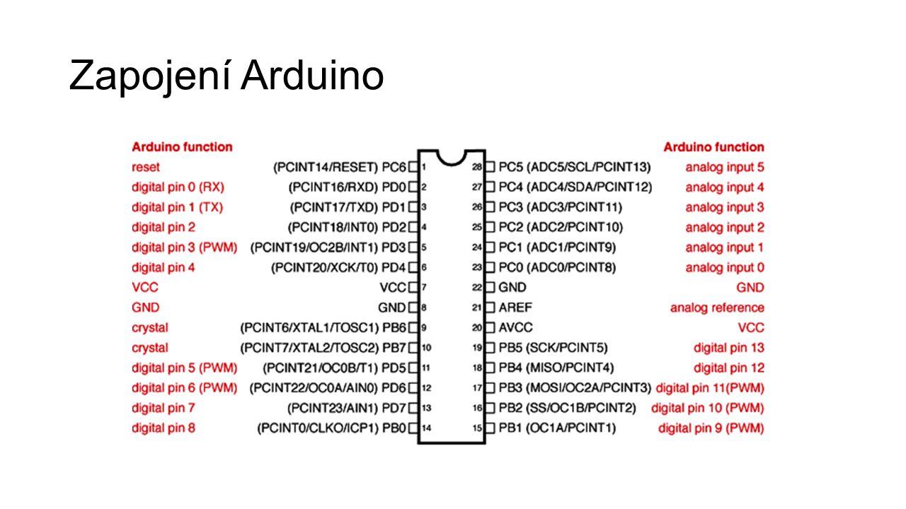 Zapojení Arduino